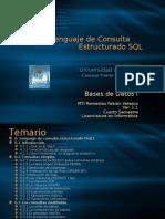 Bases de Datos I. Tema VI. Lenguaje de Consulta Estructurado