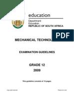 Mechanical Technology GR 12 Exam Guideline 2009 (Eng)