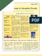 Volume 1 Number 5 Nye-Gateway to Nevada's Rurals Newsletter August 8, 2009