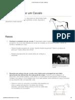 Como Desenhar Um Cavalo - WikiHow