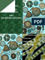 La diversité des types trophiques des microorg