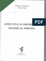 Effective Academic And Technical Writing - Marinela Granescu