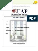 Mecanica de Suelos II-Informe de Prueba de Consolidacion