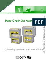 Everexceed Deep Cycle Gel Range