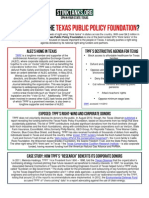TX - WHO IS BEHIND THE TEXAS PUBLIC POLICY FOUNDATION
