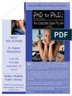 Dr. Elaine Richardson | Shaker Heights Library | Cleveland, OH