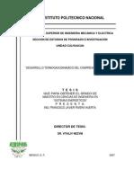 Desarrollo termogasodinámico del compresor centrífugo