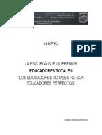Ensayo Educadores Totales 12 Octubre 2013