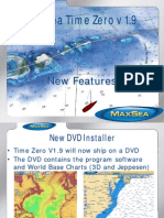 MaxSea TimeZero V1.9 New Features