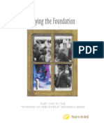 Laying the Foundation - Understanding the Biblical basis for missions and establishing vision