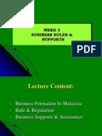 Nota Keusahawanan Week 3 (Business Rules & Supports)