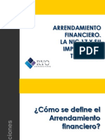Arrendamiento Financiero,Algunas Implicancias Contables y Tributarias