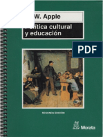 Apple, Michael - Política Cultural y Educación