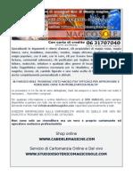 catalogo Negozio Esoterico Online e Studio di Cartomanzia Magico Sole aggiornato a novembre 2013.pdf