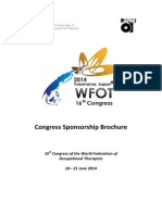 WFOT Congress 2014 Advertising and Sponsorship Brochure