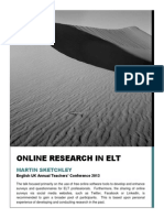 Online Research in ELT