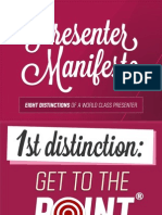 The Presenter Manifesto