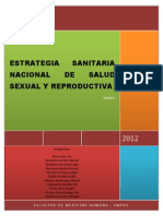 Estrategia Sanitaria Nacional de Salud Reproductiva
