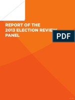 Report of the 2013 Election Review Panel