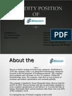 liquidity position of biocon