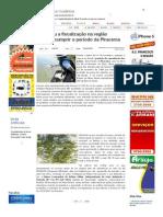 SiteBarra » Começou a fiscalização na região fazendo cumprir o período da Piracema