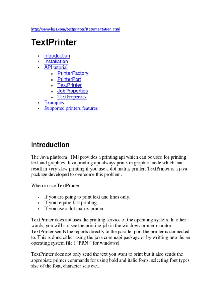 TEXT PRINT JAVA docx | Printer (Computing) | Typefaces