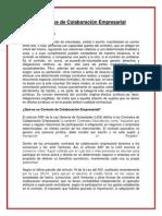 Tributación - Trabajo de Contratos de Colaboración Empresarial