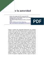 Engels-De La Autoridad