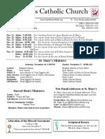 Bulletin for November 10, 2013