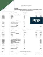 Analisis de Precios Unitarios - Primer Mes