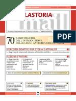 70° anniversario dell'introduzione delle leggi antiebraiche in Italia