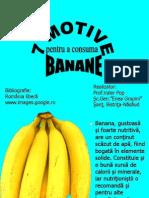 7 motive pentru a consuma banane