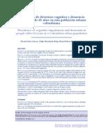 2013 Prevalencia Deterioro Cognitivo y Demencia Manizales