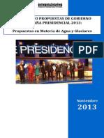 Comparado Agua Candidatos a La Presidencia 2013 FINAL