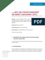 Mignovillard - Compte rendu du Conseil municipal du lundi 4 novembre 2013