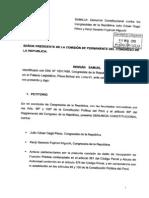Congresista Rennán Espinoza presentó este viernes una denuncia constitucional contra parlamentarios Julio Gagó y Kenji Fujimori por incidente en la Diroes