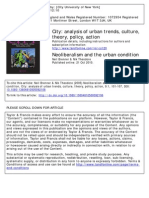 Neoliberalism and the urban condition