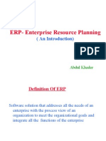 ERP- Enterprise Resource Planning