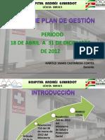 PRESENTACIÓN INFORME PLAN DE GESTION HOSPITAL ANDRÉS GIRARDOT 30-04-13.ppt