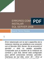 ErrorescomunesalinstalarSQLServer2008