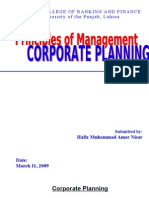Corporate Planning Assignment