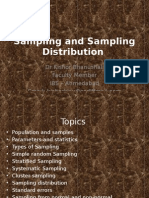 Sampling and Sampling Distribution