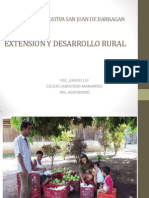 Extension y Desarrollo Rural
