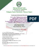 BMC and PNA July to Dec 2009 Seminars