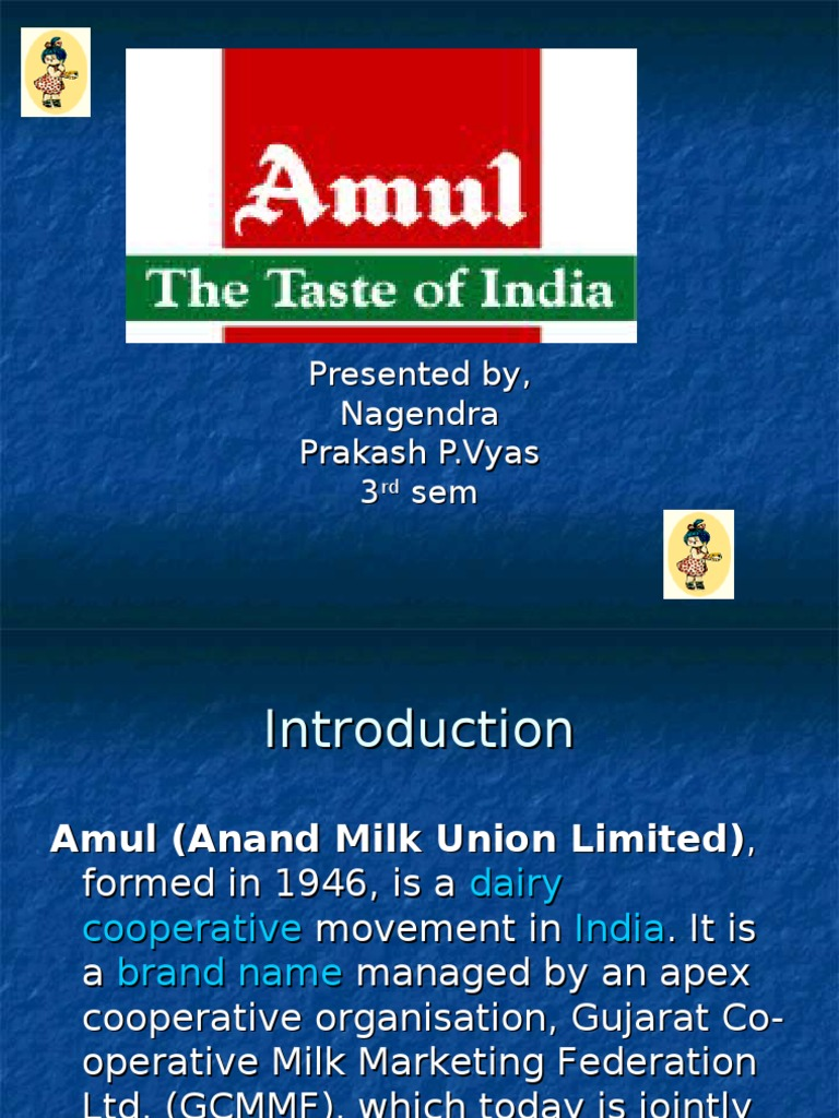 balancesheet of amul dairy ltd The amul model has helped india to emerge as the largest milk producer in the world more than 15 million milk producers pour their milk in 1, 44,500 dairy cooperative societies across the country.