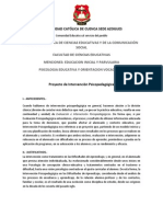 UNIVERSIDAD CATÓLICA DE CUENCA SEDE AZOGUES PROYECTO DE INTERVENCION