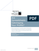 Are Spreadsheets Sabotaging Your Profits