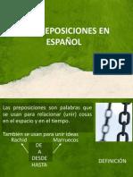 ESPANHOL PREPOSICIONES