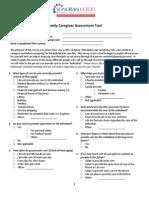 caregiver assessment tool