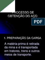 APRESENTAÇÃO DO TRABALHO SOBRE AÇOS-LIGA